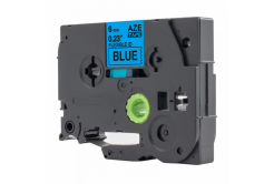 Kompatibilní páska s Brother TZ-S511 / TZe-S511, 6mm x 8m, extr.adh. černý tisk / modrý po