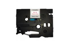 Kompatibilní páska s Brother TZ-152 / TZe-152, 24mm x 8m, červený tisk / průhledný podklad