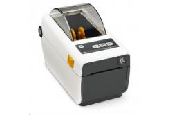 Zebra ZD410 ZD41H22-D0EE00EZ tiskárna štítků, 8 dots/mm (203 dpi), MS, RTC, EPLII, ZPLII, USB, BT (BLE), Ethernet, bílá