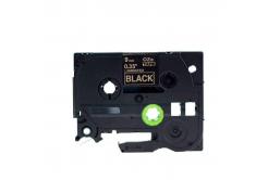 Kompatibilní páska s Brother TZ-324 / TZe-324, 9mm x 8m, zlatý tisk / černý podklad