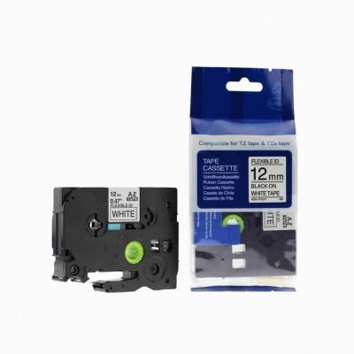 Kompatibilní páska s Brother TZ-FX231/TZe-FX231, 12mm x 8m, flexi, černý tisk/bílý podklad