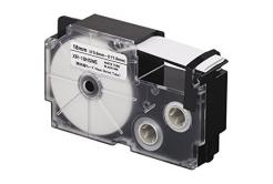 Casio R3.5WE (XR-6HSWE), 6mm x 2m, ?3.5mm, černý tisk / bílý podklad, smršťovací, kompatibilní páska