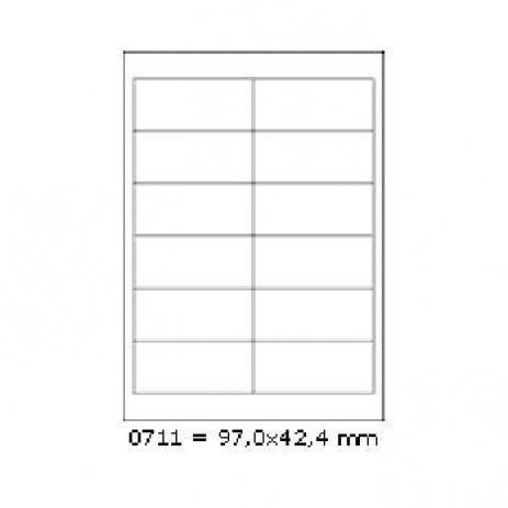 Öntapadós címkék 97 x 42,4 mm, 12 db / A4, 100 lap