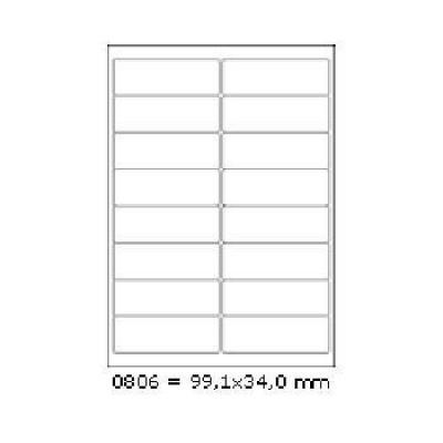Samolepicí etikety 99,1 x 34 mm, 16 etiket, A4, 100 listů