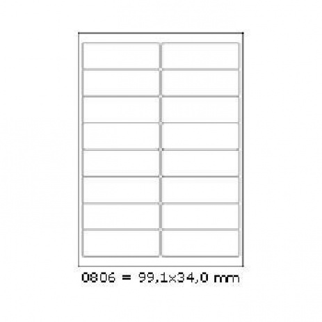 Selfadhesive labels 99,1 x 34 mm, 16 labels, A4, 100 sheets
