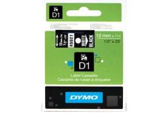 Dymo D1 45021, S0720610, 12mm x 7m bílý tisk / černý podklad, originální páska