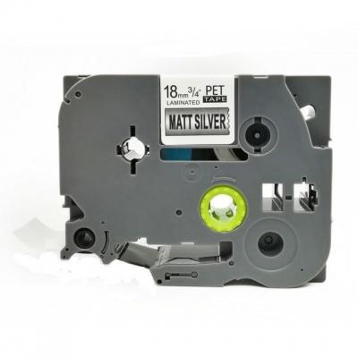 Kompatibilní páska s Brother TZ-M941 / TZe-M941, 18mm x 8m, černý tisk / stříbrný podklad