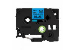 Kompatibilní páska s Brother TZ-S551 / TZe-S551, 24mm x 8m, extr.adh. černý tisk / modrý p