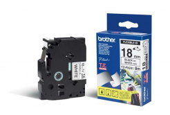 Brother TZ-FX241 / TZe-FX241, 18mm x 8m, černý tisk/bílý podklad, originální páska