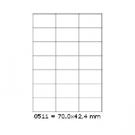 Öntapadós címkék 70 x 42,4 mm, 21 db / A4, 100 lap