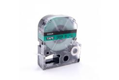 Epson LC-SC6GW, 6mm x 8m, černý tisk / zelený podklad, kompatibilní páska