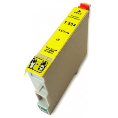Epson T0554 žlutá (yellow) kompatibilní cartridge