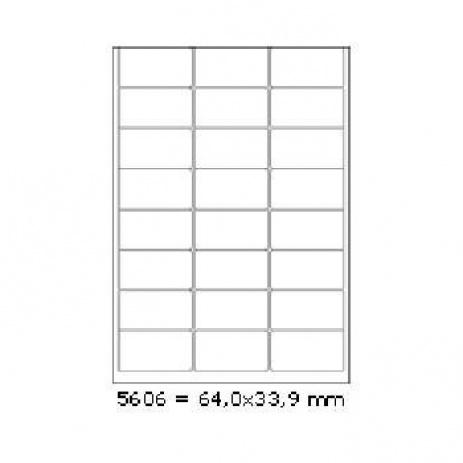 Etichete autoadezive 64 x 33,9 mm, 24 de etichete, A4, 100 coli