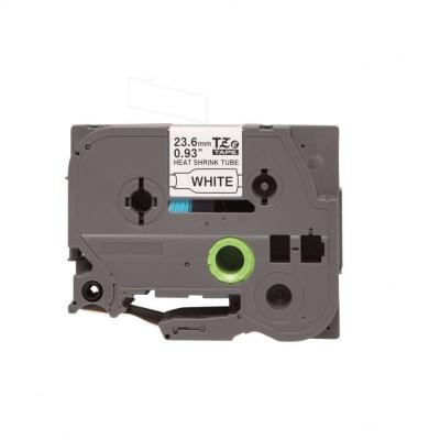 Kompatibilní páska s Brother HSe-251, 23,7mm x 1,5m, černý tisk / bílý podklad