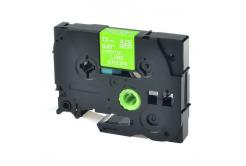 Kompatibilní páska s Brother TZ-MQG35/TZe-MQG35, 12mm x 5m, bílý tisk / limetkový podklad