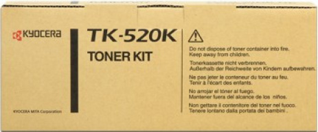 Kyocera Mita TK-520K fekete (black) eredeti toner