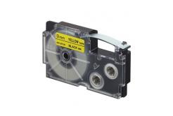 Casio XR-9YW1, 9mm x 8m, černý tisk/žlutý podklad, originální páska