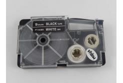 Kompatibilná páska s Casio XR-9ABK 9mm x 8m biela tlač / čierny podklad