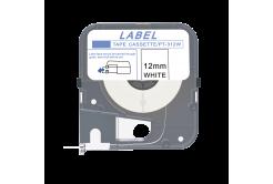 Max LM-312W, 12mm x 8m, bílá kompatibilní páska
