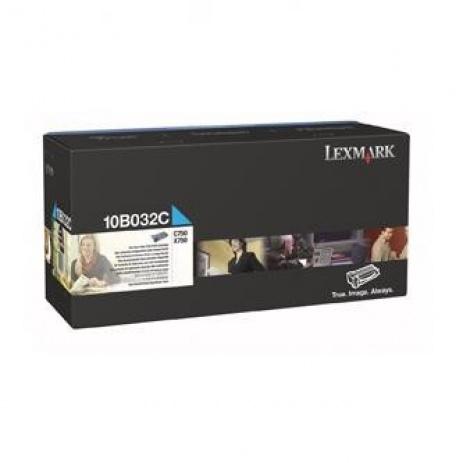 Lexmark 10B032C azuriu (cyan) toner original