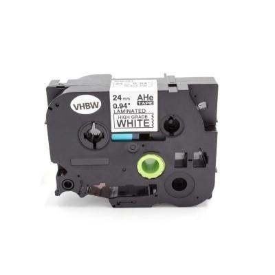 Kompatibilní páska s Brother HGe-251, 24mm x 8m, černý tisk/bílý podklad vysokorychlostní