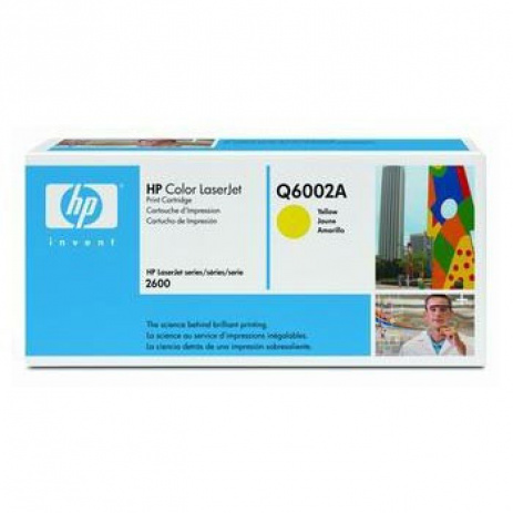 HP 124A Q6002A galben (yellow) toner original