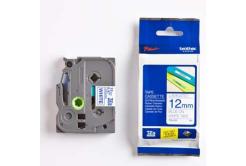 Brother TZ-233 / TZe-233, 12mm x 8m, modrý tisk/bílý podklad, originální páska