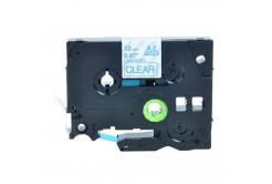 Kompatibilná páska s Brother TZ-133 / TZe-133, 12mm x 8m, modrá tlač / priehľadný podklad