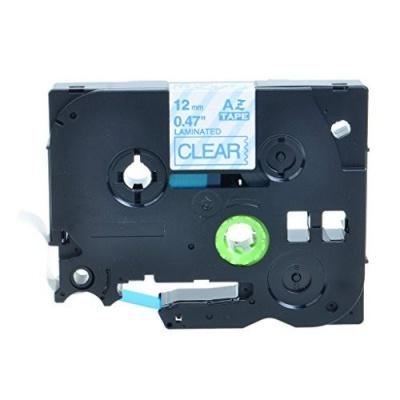Kompatibilní páska s Brother TZ-133 / TZe-133, 12mm x 8m, modrý tisk / průhledný podklad