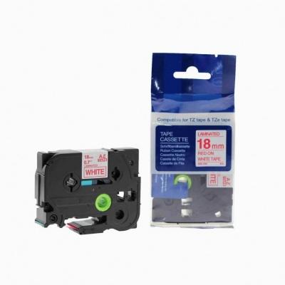 Kompatibilní páska s Brother TZ-242 / TZe-242, 18mm x 8m, červený tisk / bílý podklad