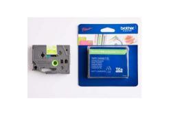 Brother TZ-MQG35 / TZe-MQG35, 12mm x 5m,  bílý tisk/zelený podklad, originální páska
