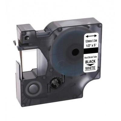 Kompatibilní páska s Dymo 18055, S0718300, 12mm x 1, 5m černý tisk / bílý podklad
