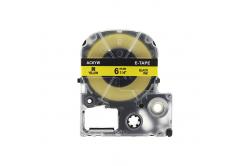 Epson LK-SC6YW, 6mm x 9m, černý tisk / žlutý podklad, kompatibilní páska