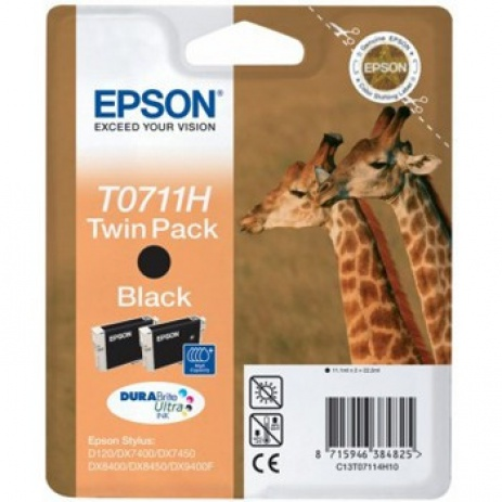 Epson C13T07114H10 black dualpack original ink cartridge