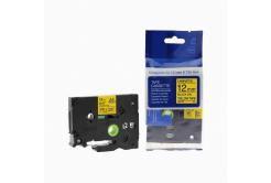 Kompatibilní páska s Brother TZ-631 / TZe-631, 12mm x 8m, černý tisk / žlutý podklad
