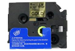 Kompatibilní páska s Brother TZ-811 / TZe-811, 6mm x 8m, černý tisk / zlatý podklad