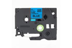 Kompatibilní páska s Brother TZ-FX521 / TZe-FX521, 9mm x 8m, flexi, černý tisk / modrý pod