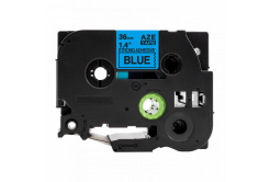 Kompatibilní páska s Brother TZ-S561 / TZe-S561, 36mm x 8m, extr.adh. černý tisk / modrý p