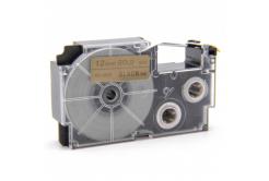 Kompatibilní páska s Casio XR-12GD1 12mm x 8m černý tisk / zlatý podklad