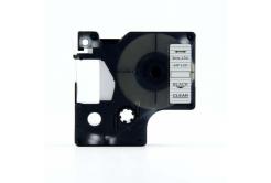 Kompatibilní páska s Dymo 40910, S0720670, 9mm x 7m černý tisk / průhledný podklad