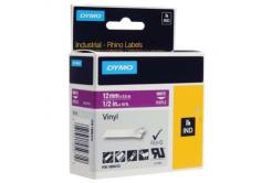 Dymo Rhino 1805415, 12mm x 5,5m, bílý tisk/fialový podklad, originální páska