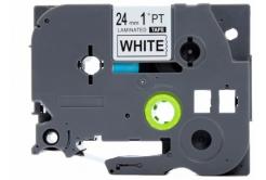 Brother TZe-FA251, 24mm x 3m, černý tisk / bílý podklad, zažehlovací, kompatibilní páska