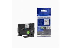 Kompatibilní páska s Brother TZ-FX211/TZe-FX211, 6mm x 8m, flexi, černý tisk/bílý podklad