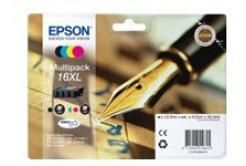 Epson T16364012, T163640, 16XL azurová/purpurová/žlutá/černá (cyan/magenta/yellow/black) originální cartridge