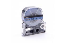 Epson LC-SC9BW, 9mm x 8m, černý tisk / modrý podklad, kompatibilní páska