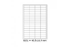 Samolepicí etikety 48,5 x 16,9 mm, 68 etiket, A4, 100 listů
