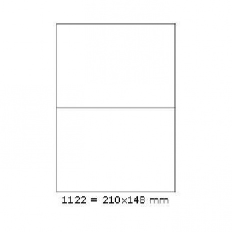 Selfadhesive labels 210 x 148 mm, 2 labels, A4, 100 sheets