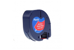 Kompatibilní páska s Dymo 59424, S0721580 / 91203, S0721630 LetraTag 12mm x 4m, černý tisk/červený podklad