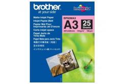 Brother BP60MA3 Photo Matt Paper, foto papír, matný, bílý, A3, 145 g/m2, 25 ks, BP60MA3, inkoustový