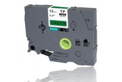 Brother TZe-V731, 12mm x 5,5m, černý tisk / zelený podklad, vinyl, kompatibilní páska